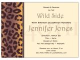 40th Birthday Dinner Invite Wording Cheetah 40th Birthday Invitations