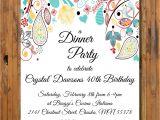 40th Birthday Dinner Invite Wording Elegant Paisley Dinner Invitation 16th 21st 30th 40th