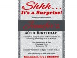 40th Birthday Dinner Invite Wording Red 30th 40th 50th Birthday Invitation Silver by