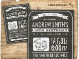 40th Birthday Invitation Wording for Man 30th Birthday Invitation Male Birthday Party by 2birdstudios
