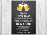 40th Birthday Invitation Wording for Man 40th Birthday Invitation 40th Birthday Invitation for Men