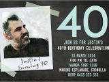 40th Birthday Invitation Wording for Man 40th Birthday Invitations for A Man