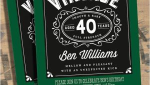 40th Birthday Invitation Wording for Man 40th Birthday Party Invitations for Men