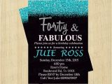 40th Birthday Invitations Female 40th Birthday Invitation Women forty and Fabulous by