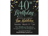 40th Birthday Invitations Free Templates 40 Birthday Invitation Template orderecigsjuice Info