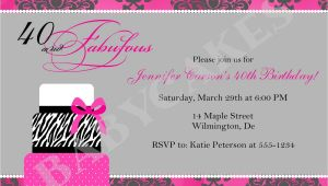 40th Birthday Invitations with Photo 40th Birthday Invitation Wording Template