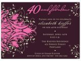 40th Birthday Invitations with Photo andromeda Fabulous Pink 40th Birthday Invitations