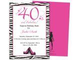 40th Birthday Invitations with Photo Invitation Templates 40th Birthday Party