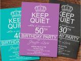 40th Birthday Invite Language Adult Surprise 50th Birthday Party Invitation Men Women