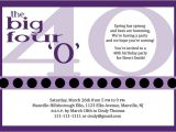 40th Birthday Invite Wording 40th Birthday Party Invitations Wording