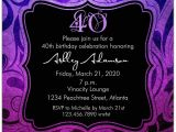 40th Birthday Invite Wording for Her Brilliant Emblem 40th Birthday Party Invitations Paperstyle