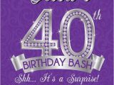 40th Birthday Invite Wording for Her Surprise 40th Birthday Party Invitation Wording