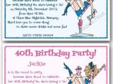 40th Birthday Invite Wording Funny 18th 21st 30th 40th 50th 60th Personalised Funny Birthday
