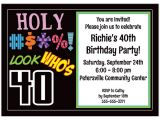 40th Birthday Invite Wording Funny Free Printable 40th Birthday Party Invitations Templates