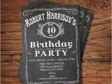 40th Birthday Party Invitations for Men 40th Birthday Invitation for Men by thepaperwingcreation