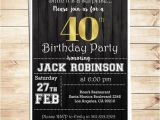 40th Birthday Party Invitations for Men Surprise 40th Birthday Party Invitations for Him Men 40th