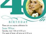 40th Birthday Party Invitations Online 40th Birthday Invitation Wording Bagvania Free Printable