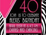 40th Birthday Party Invitations Online 40th Birthday Invites Templates