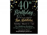 40th Birthday Party Invitations Templates Free 25 40th Birthday Invitation Templates – Free Sample