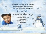4th Birthday Party Invitations Boy Blue Snowman 4th Birthday Invitation Little Boy 39 S