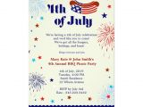 4th Of July Birthday Party Invites 4th Of July Bbq Picnic Invitation Party Zazzle