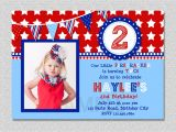 4th Of July Birthday Party Invites 4th Of July Birthday Invitation Red White and Blue Birthday