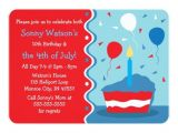 4th Of July Birthday Party Invites 4th Of July Birthday Party Invitations Zazzle