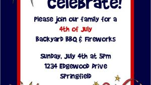 4th Of July Birthday Party Invites Bear River Photo Greetings 4th Of July Party Invitation