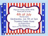 4th Of July Party Invite Template 4th July Birthday Party Invitations