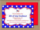 4th Of July Party Invite Template Fourth Of July Invitations July 4th Invitations