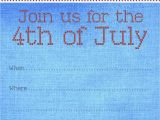 4th Of July Party Invite Template Free Printable Party Invitations Fourth Of July