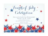 4th Of July Party Invite Template Patriotic Stars 4th Of July Party Invitation