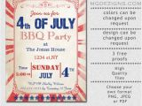 4th Of July Party Invite Template Printable Rustic 4th Of July Party Invitation Templates