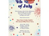 4th Of July Party Invite Wording 4th Of July Bbq Picnic Invitation Party