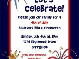 4th Of July Party Invite Wording Bear River Greetings 4th Of July Party Invitation