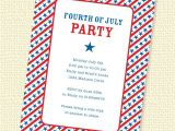 4th Of July Party Invite Wording Starry Stripes Fourth Of July Party Invitation Printable