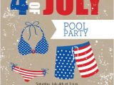 4th Of July Pool Party Invite 4th July Summer Pool Party Invitation