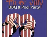 4th Of July Pool Party Invite 4th Of July Bbq & Pool Party Invitation