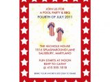 """4th Of July Pool Party Invite 4th Of July Pool Party & Bbq Invitations 5"""" X 7"""