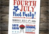 4th Of July Pool Party Invite Fourth Of July Party Invitation July 4th Pool Party Bbq
