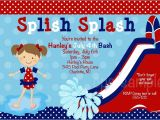 4th Of July Pool Party Invite July 4th Pool Party Birthday Invitation
