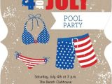 4th Of July Pool Party Invite Kraft 4th July Pool Party Invitation