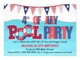 4th Of July Pool Party Invite Pool Party Invitation 4th July