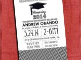 4×6 Graduation Invitations Graduation Party Invitation Chevron Style 4×6 or 5×7 You