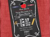 4×6 Graduation Invitations Teacher Graduation Party Invitation Chalkstyle 4×6 or 5×7