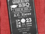 4×6 Graduation Party Invitations Bbq Graduation Party Invitation Chalkboard Style 4×6 or 5×7