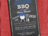 4×6 Graduation Party Invitations Graduation Bbq Party Invitation Chalkboard Style 4×6 or 5×7