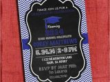4×6 Graduation Party Invitations Graduation Party Invitation Chevron and Chalkboard Style 4×6