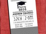4×6 Graduation Party Invitations Graduation Party Invitation Chevron Style 4×6 or 5×7 You