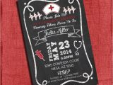 4×6 Graduation Party Invitations Nurse Graduation Party Invitation Chalkboard Style 4×6 or